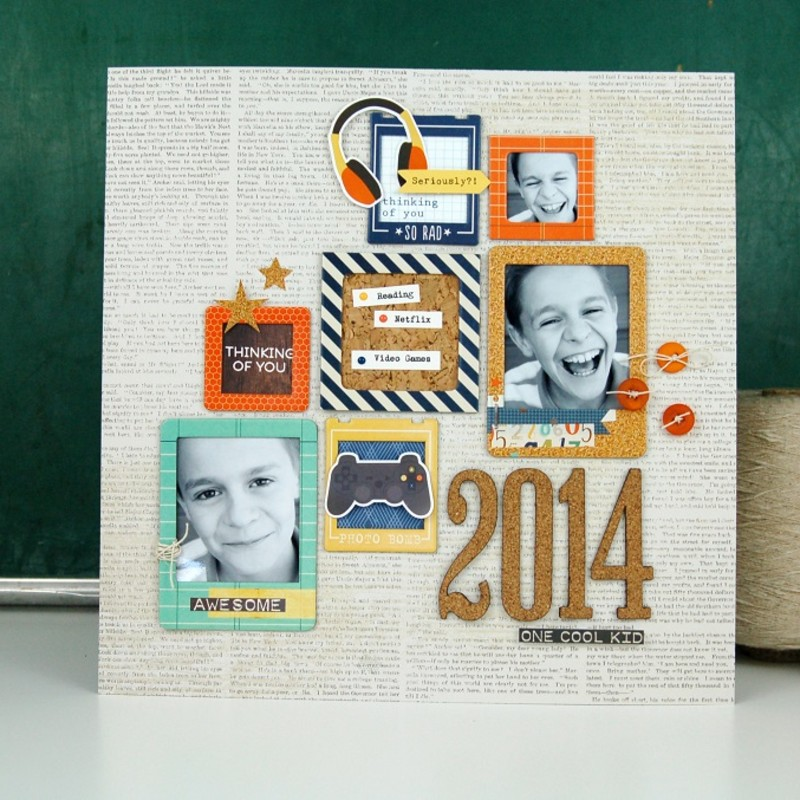 One cool kid layout by jen gallacher