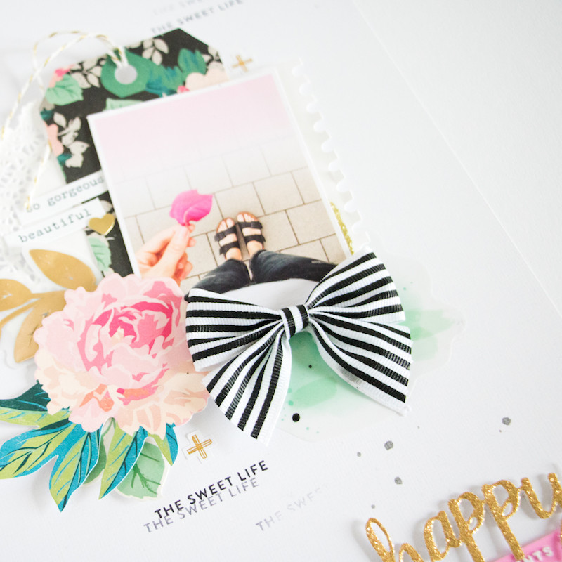 Sweetlife scatteredconfetti scrapbooking layout paperlesspages teaser