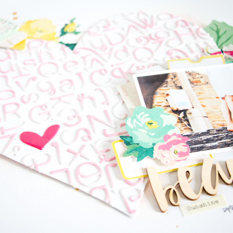 Beautiful scatteredconfetti scrapbooking layout paperlesspages teaser