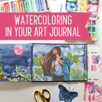 Watercoloring in your art journal main photo