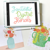 Fantastic digital florals main image