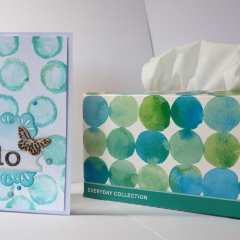 Hello card from kleenex inspiration original