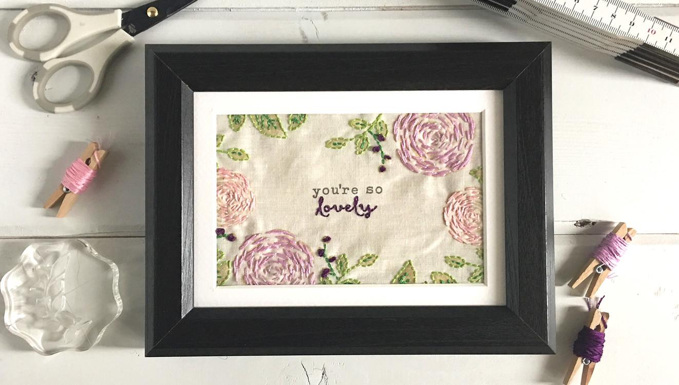 Stitching on fabric original