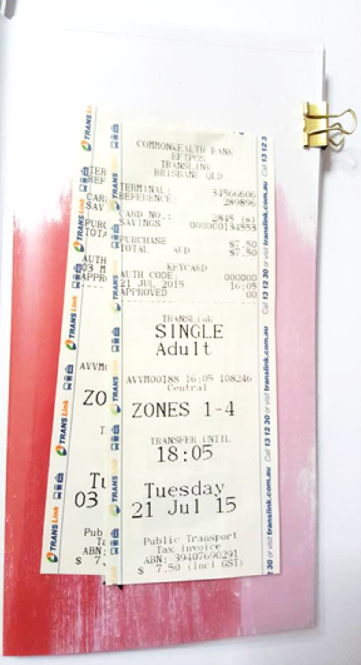 Tickets in page prot original