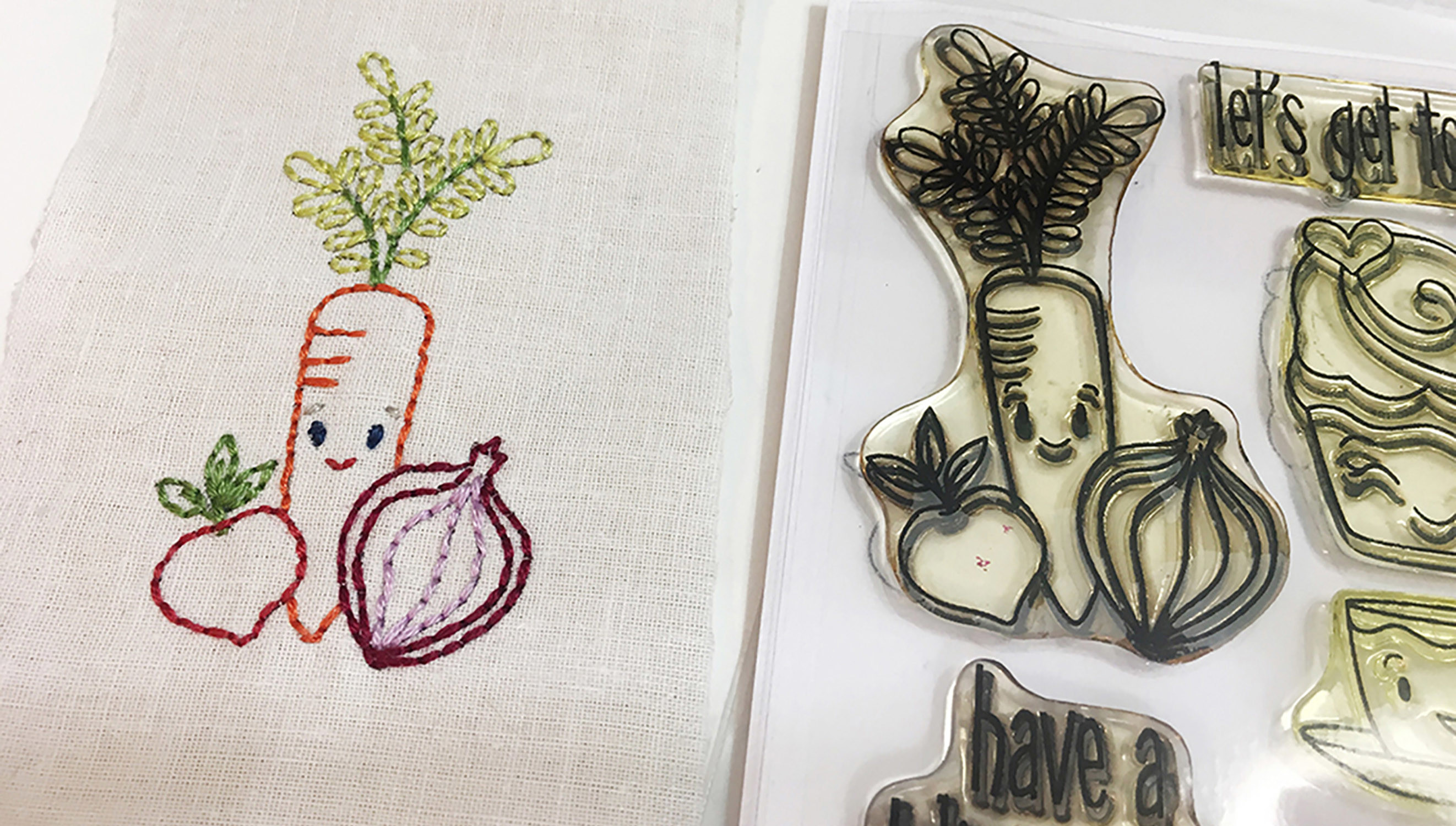Picture 2 of Embroidered Stamps at Big Picture Classes