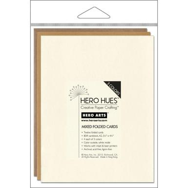 Hero hues earth mixed folded cards   image 1
