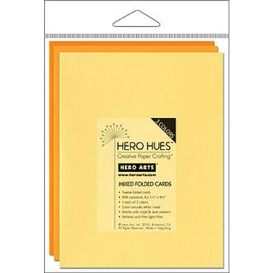 Hero hues sunshine folded mixed cards   image 1