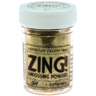 Zing glitter embossing powder 1 oz gold   image 1
