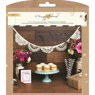Confetti crocheted doily garland party kit   image 1