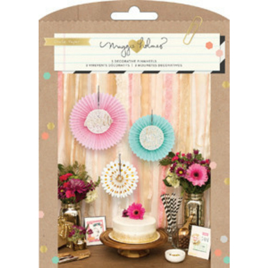 Confetti party kit tissue fans   image 1