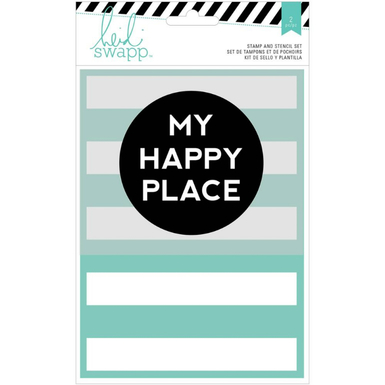 Wanderlust stencil and stamp set my happy place   image 1