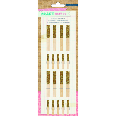 Gold glitter clothespins   image 1