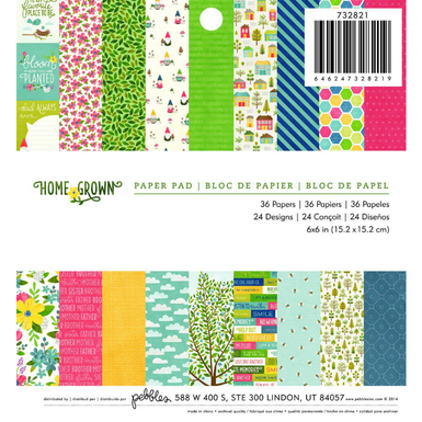 Homegrown patterned paper pad 6 x 6   image 1