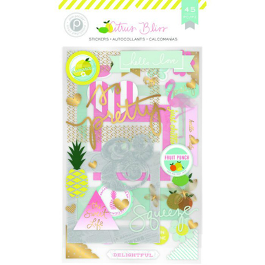 Citrus bliss chipboard stickers   image 1