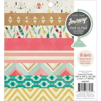 Journey patterned paper pad 6 x 6   image 1