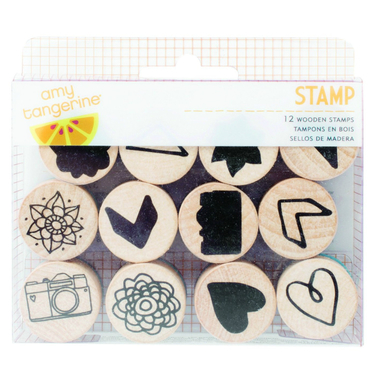 Rise and shine wooden icon stamps   image 1