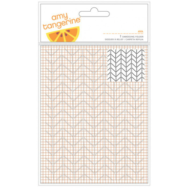 Rise and shine ava embossing folder 4 x 6   image 1