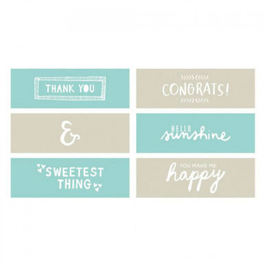 Rise and shine greeting cards phrases embossing strips   image 1