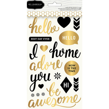 Cottage living puffy phrase stickers   image 1