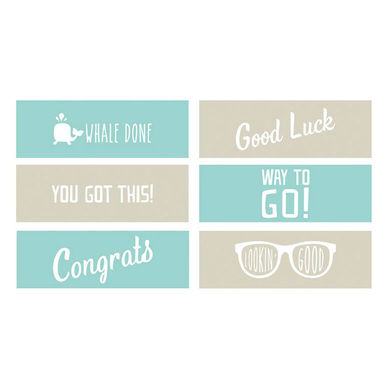 Encouragement phrases embossing strips 6 x 2   image 1