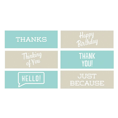 Classic phrases embossing strips 6 x 2   image 1