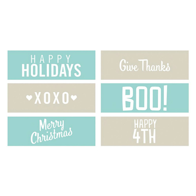 Holiday phrases embossing strips  6 x 2   image 1