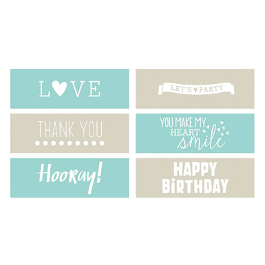 Fine and dandy phrases embossing strips 6 x 2   image 1