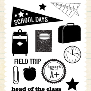 Tp90035 school days stamp set