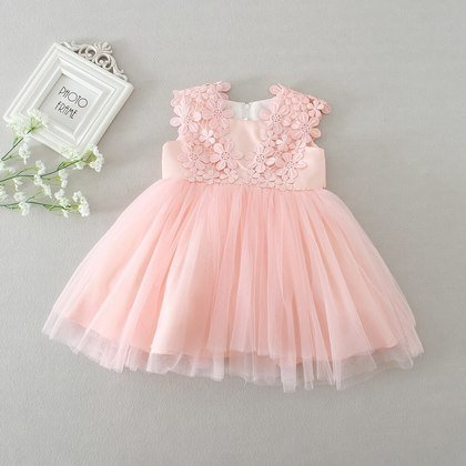 5p2602 baby girls dress 2017 new party dresses tutu dresses girl summer wholesale baby boutique clothing